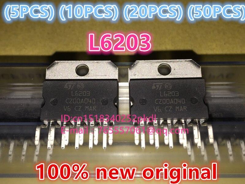 100%New original  L6203 ZIP-11  IC chip 100%new original b2415s 2w ic chip 10pcs