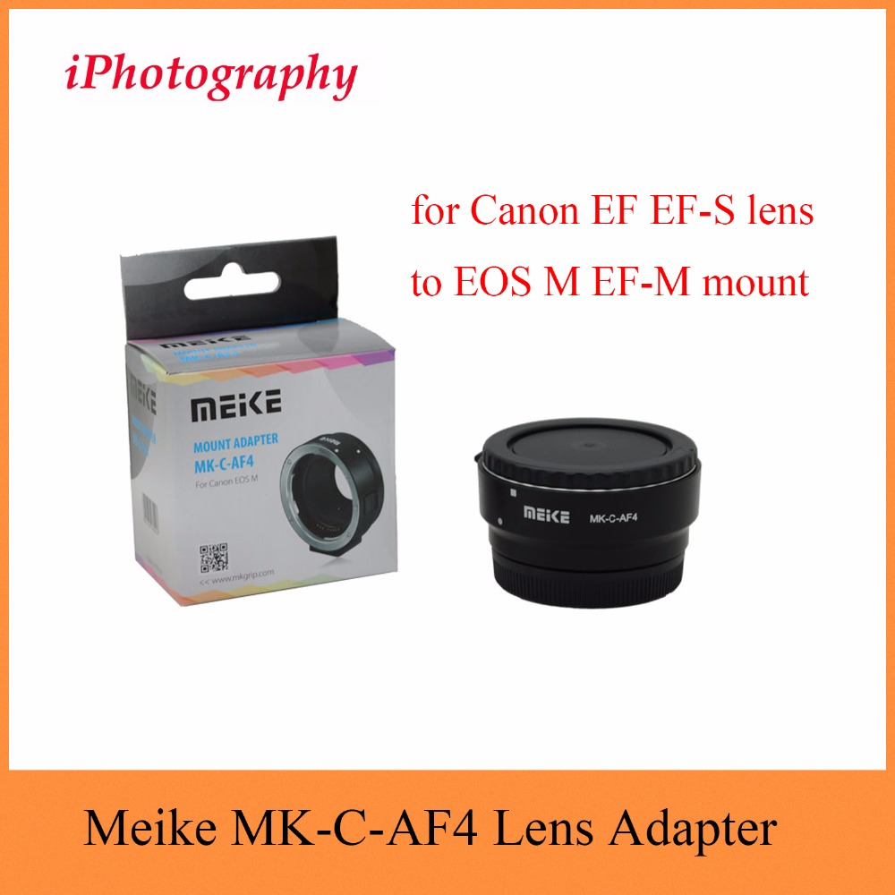 Meike MK-C-AF4 Meike Electronic Auto Focus Adapter for Canon EF EF-S lens to EOS M EF-M mount