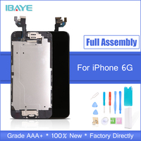 For iPhone 6 Screen Home button front camera speaker for iphone 6 LCD screen Display Assembly highscreen Replacement White