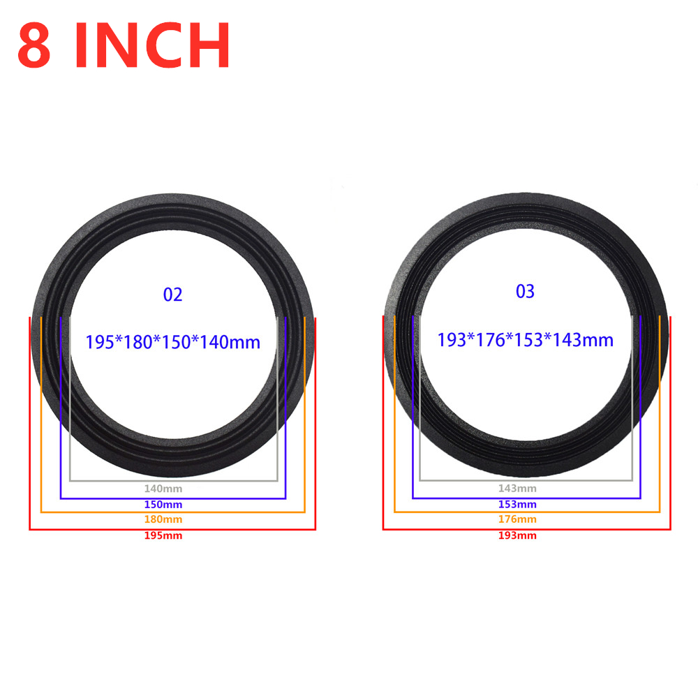 Subwoofer Folding Edge Repair Parts 8 Inch Stage Speaker Surround Side DIY Loudspeaker Suspension Surround  Replacement