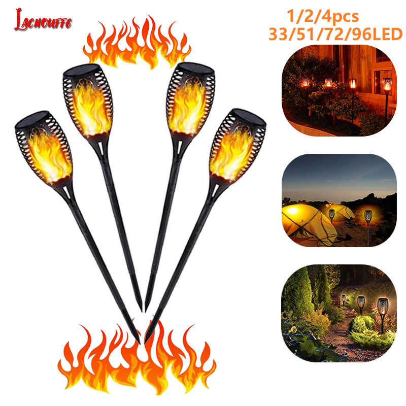 96 LED Tahan Air Flame Flame Solar Torch Light Lampu Taman Outdoor Lanskap Dekorasi Taman Lampu Taman