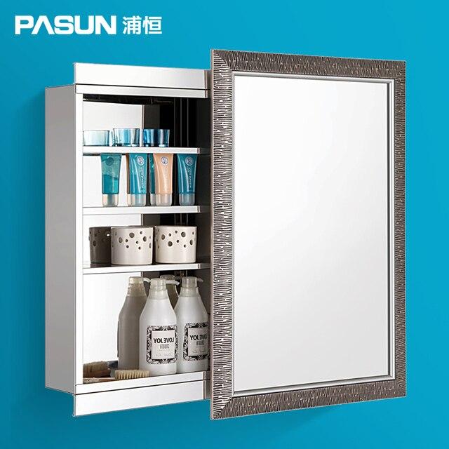 Hängen Pu edelstahl spiegelschrank badezimmerschrank spiegel box ...