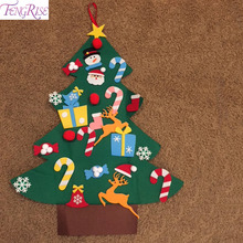 FENGRISE DIY Felt Christmas Tree Kids Christmas Tree Decorations Ornaments 2018 New Year 2019 Xmas Christmas GIft Decoration