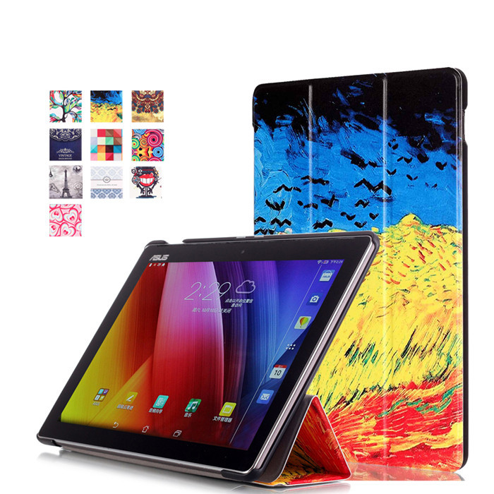 Tempered Glass Screen Protector + PU Leather Cover Case for Asus ZenPad 10 Z300 Z300C Z300CL Z300CG Z300CNL 10.1 Tablet magnet leather cover stand case for asus zenpad s 8 0 z580 z580c z580ca tablet screen protectors stylus