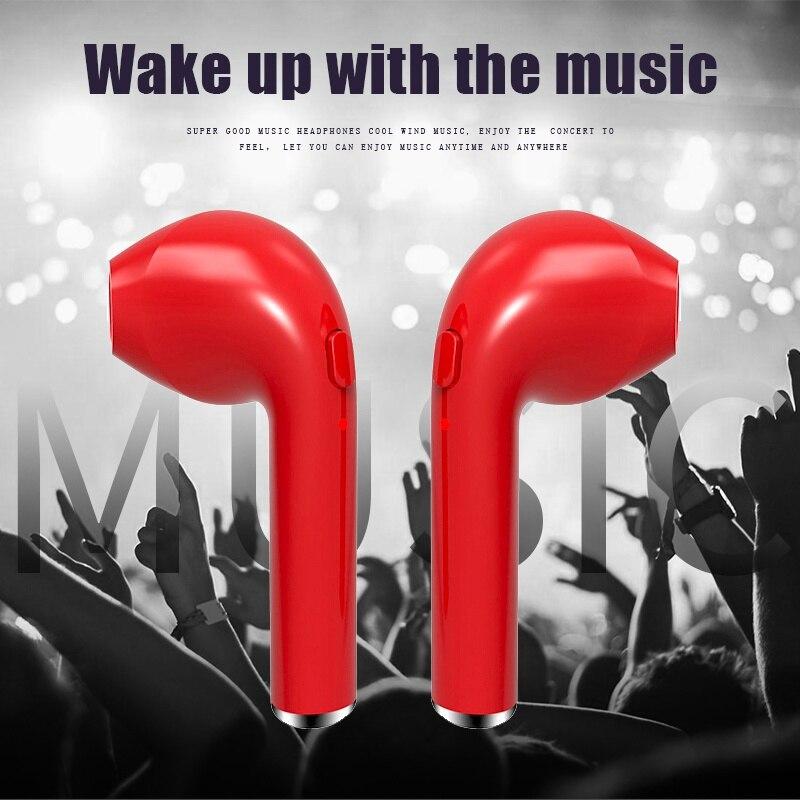 TWS Fone de ouvido Sem Fio fone de Ouvido Bluetooth Invisível Música Earbud Com Microfone Para O iPhone Da Apple Samsung Xiaomi Huawei Telefone Cabeça