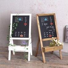 Magnetic calendar blackboard frame living room balcony flower rack type simple creative floor wood flower pot decoration rack