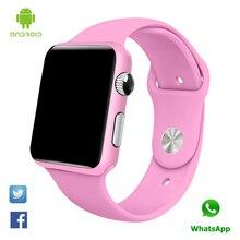 G10A pintura rosa bluetooth Reloj inteligente reloj de pulsera para las mujeres adultas de contestación de llamadas reloj con tarjeta sim Android Inteligente Smartwatch