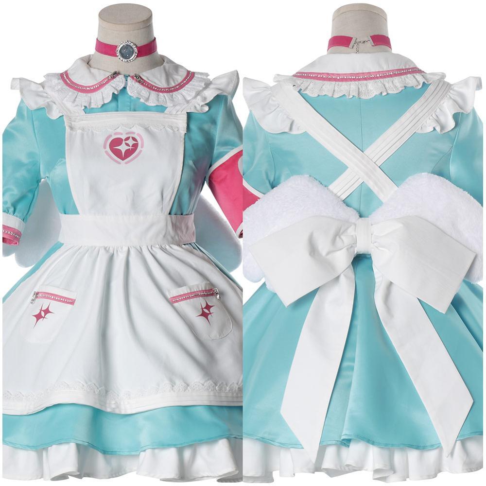The Idolmaster Cinderella Girls Cosplay Yumemi Riamu Cosplay Costume Maid Dress Wig Halloween Carnival Costumes