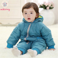 Keep Thick Warm Infant Baby Rompers Winter Clothes Newborn Baby Boy Girl Romper Jumpsuit Hooded Snowsuit