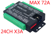 цена на Free Shipping 24ch Dmx512 Decoder, Led Dimmer Controller,24ch Dmx Decoder,dc5v-24v, Each Channel Max 3a, 8 Groups Rgb Controller