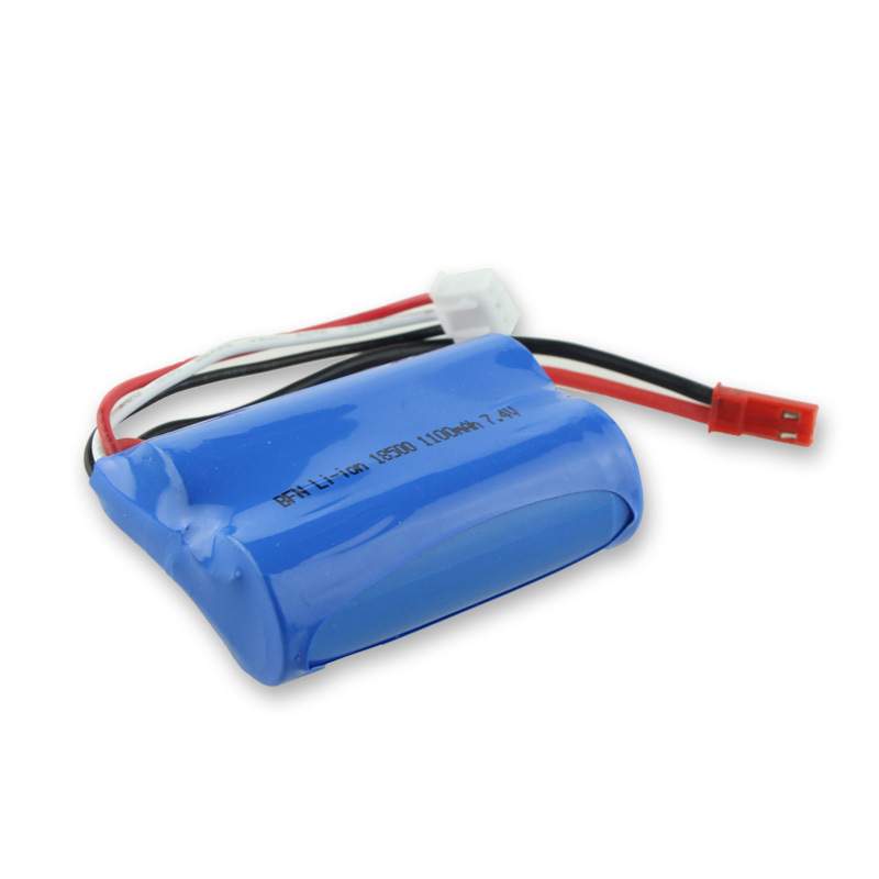 <font><b>7.4V</b></font> 1100mAh <font><b>Li</b></font>-<font><b>Po</b></font> Helicopter Battery for UDI U12 Huanqi HQ827B QS8004 MJX T34 T10 T11 Syma S031G Spare Part Replacement image