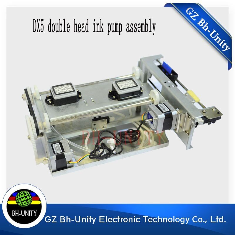 factory price!! dx5 double head ink pump assembly for eco solvent printing machine spare parts on selling hot sale single dx5 ink pump assembly for flora versacamm leopard large format printer machine