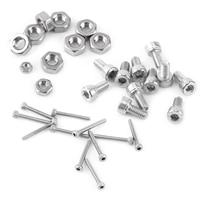 480pcs Hex Socket Head Cap Screws M2 M3 M4 Stainless Steel Nut Assortment Kit Set With