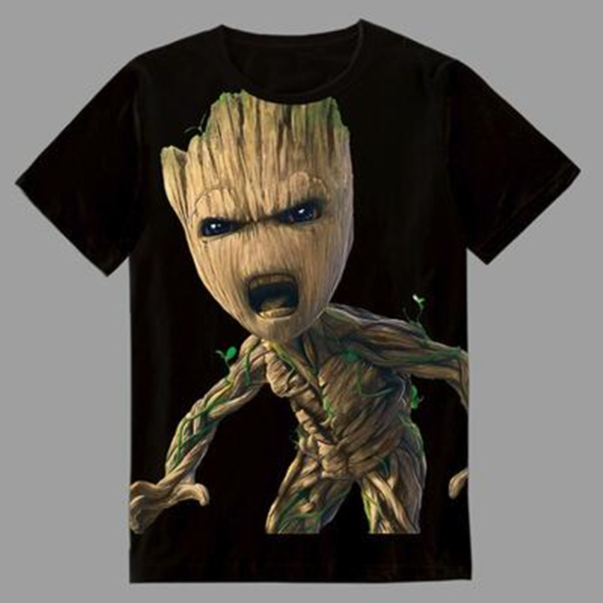 Esihou Woman Man Guardians of the Galaxy 2 Movie Printing Custom Made T-shirt Tees
