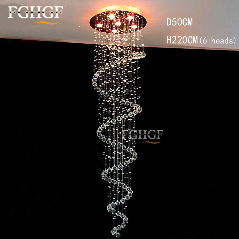 Modern Clear Stair Crystal Chandelier Light Fixture Long Crystal Suspension Lustres de cristal Lamp for corridor aisle Entrance все цены