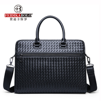 FEIDIKABOLO High Quality Woven Horizontal Men's Handbag New Fashion Personality Laptop Bag Casual Wild Shoulder Messenger Bag