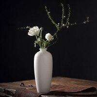 TANGPIN Dehua ceramic flower vase white porcelain vases decoratives vaso for home decoration tabletop vase