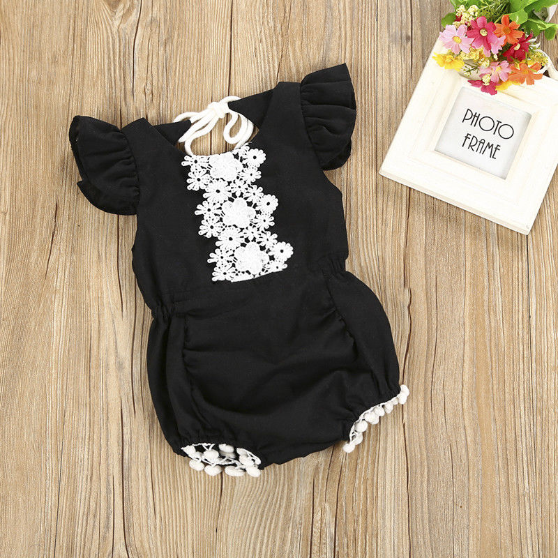 Newborn Baby Infant Lace...