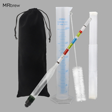 Hydrometer and Test Jar for Wine Beer Mead and Kombucha,Triple Scale Hydrometer, 250ml