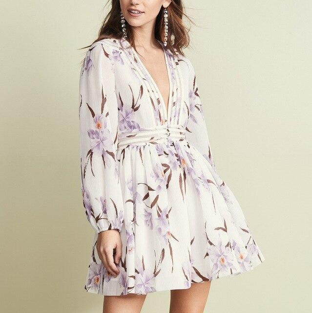 78fdccbd940d Despeje Vestidos de flores con estampado marca diseñador para mujer ...