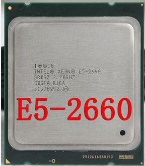 Processeur d'origine Intel Xeon E5-2660 SR0KK C2 CPU 2.2 GHz LGA 2011 20 mo L3 Cache 8 cœurs 95 W processeur griffé pièce e5 2660