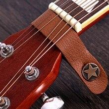 Классический гитарный бас кожаный ремень держатель Кнопка Струнные инструменты безопасный замок для акустической электрогитары