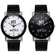 Fashionable Simple Unisex Men Women Student Quartz Analog Wristwatch Watch