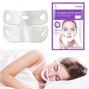 Image 2 - Женская лифтинг маска для лица V, маска до подбородка, укрепляющее, способствующее похудению, гладкие морщины, крем для лица, шеи, отшелушивающая маска, бандажная маска для лица