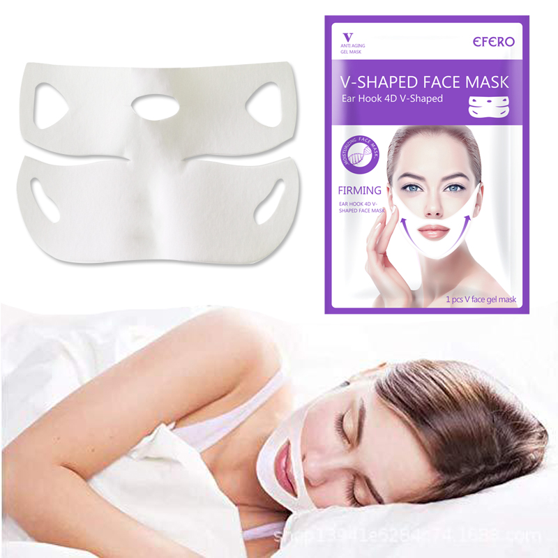 Image 5 - Women Lift Up V Face Chin Masks Lifting Firming Slimming Cheek Smooth Wrinkles Cream Face Neck Peel off Masks Bandage Face Mask-in Face Skin Care Tools from Beauty & Health