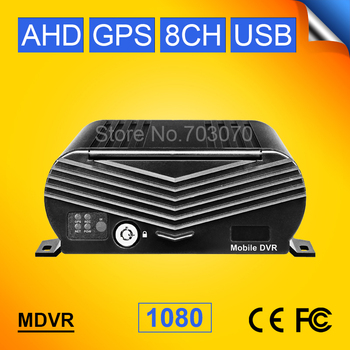 GPS 8CH HDD Hard Disk AHD Mobile Dvr 1080 H.264 Cycle Recording I/O Video Backplay Record GPS Track Mdvr