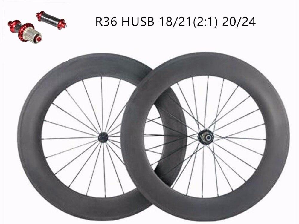 Ruote in carbonio 88mm di Ceramica R36 tirare Dritto tubolare ruote copertoncino pilastro 1420 strada ruote della bici della strada ruota di bicicletta