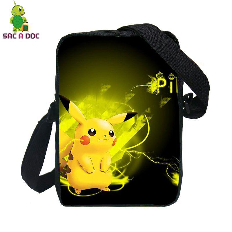 Pokemon Pikachu Charizard Messenger Bags Women Men Mini Handbags Cartoon Shoulder Bag for Kids Boys Girls Crossbody Bags
