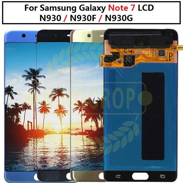 סופר AMOLED לסמסונג הערה מאוורר מהדורת FE הערה 7 N930F N935F LCD תצוגת מסך מגע digitizer AssemblyFor סמסונג Note7 LCD