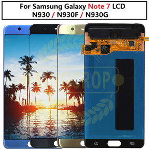 Image 1 - Super AMOLED For Samsung Note Fan Edition FE Note 7 N930F N935F LCD display touch screen digitizer AssemblyFor Samsung Note7 LCD