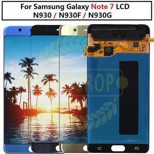 Image 1 - Super AMOLED для Samsung Note Fan Edition FE Note 7 N930F N935F ЖК дисплей с сенсорным экраном дигитайзер сборка для Samsung Note7 ЖК дисплей