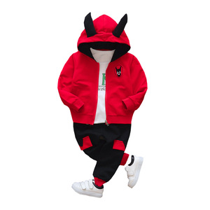 Image 2 - New products Baby clothes Childrens clothing suit  Cotton products for Boys  Three piece sets Spring and autumn Kids sets