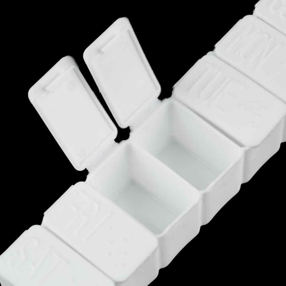1Pc atau 2 Pcs Satu Minggu 7 Hari Kecil Obat Pil Kotak Obat Pemegang Mingguan Tablet Mini Kotak Obat Wadah penyimpanan Organizer Case