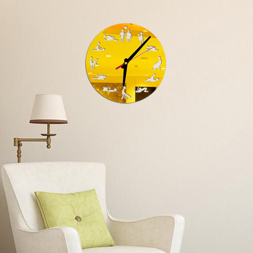 Hot Sale Diy Acrylic Mirror Wall Clock Mirror Wall