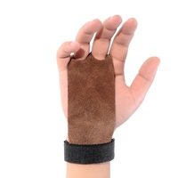 1 Pair Real Cowhide Leather Durable Horizontal High Bar Pull Up Pull Up Training Gym Glove