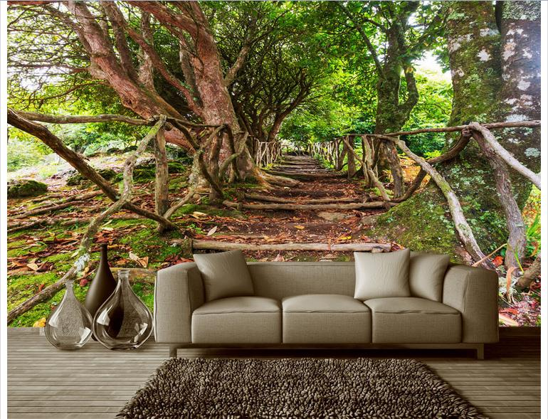 Aliexpress.com : Buy Customized 3d Photo Wallpaper 3d Wall Mural Wallpaper Banyan Tree Rural