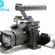 Клетка для камеры для Panasonic Lumix GH5/GH5s защитный чехол беззеркальная система Cam Монтажный кронштейн алюминиевый с верхней ручкой
