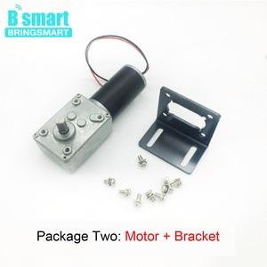 Image 4 - Bringsmart DC Motor 12V Gear Electric Motors 24 volt Reducer Micro Motor High Torque 70kg.cm Worn Gearmotor + Speed Controller