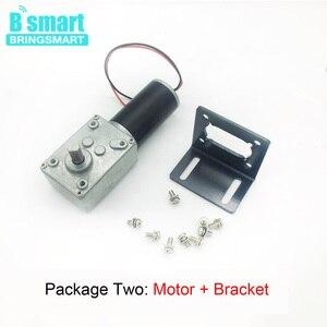 Image 4 - Bringsmart silnik prądu stałego 12V przekładnie silniki elektryczne 24 V reduktor mikro silnik wysoki moment obrotowy 70kg. cm zużyty motoreduktor + regulator prędkości