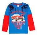Novatx bebés meninos camisetas crianças t camisa dos desenhos animados manga longa outono impressão da camisa dos miúdos t para meninos roupa das crianças