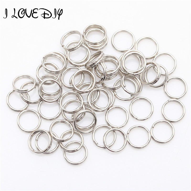 Wholesale Silver Plated Metal Fishing Split Rings Connector Findings Key Rings 4mm 5mm 6mm 7mm 8mm 10mm 12mm for Jewelry Making 100pcs key rings metal split rings flat key chains rings black silver 25mm 32mm