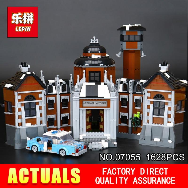 New 1628Pcs Lepin 07055 Genuine Series Batman Movie Arkham Asylum Building Blocks Bricks Toys with 70912 gift