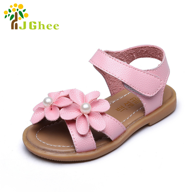 9b27df05b86620 J Ghee Baby Girl Shoes Toddler Sandals For Age 1-6 Years Girls Sandals Kids  Summer Beach Shoes Floral Flowers With Pearl Beading