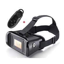 Hot sale! Hot 3D VR Virtual Reality Glasses Phone 3D Movie Game Helmet for 4.0- 6 inch Smartphone+ Bluetooth Controller