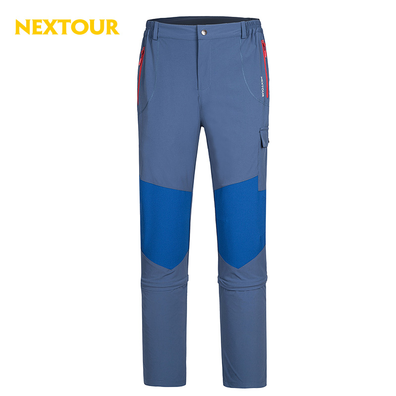NEXTOUR Outdoor pants Men Detachable Cropped Pants Elastic Quick-dry Pants UV-proof Breathable Trousers Hiking Camping outdoor sport pants stitching breathable quick drying pants cycling hiking camping fishing running jogging luminous sports pants