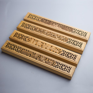 Queimador de Incenso de bambu Com Gaveta Caixa de Titular da Vara de Incenso Joss-pau Oco Aromaterapia Zen Deitado Incensário Casa de Chá de Escritório Em Casa